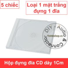 Hộp đựng đĩa CD DVD dày 1.2Cm – Vỏ đựng đĩa CD DVD dày bản trắng (5 chiếc)