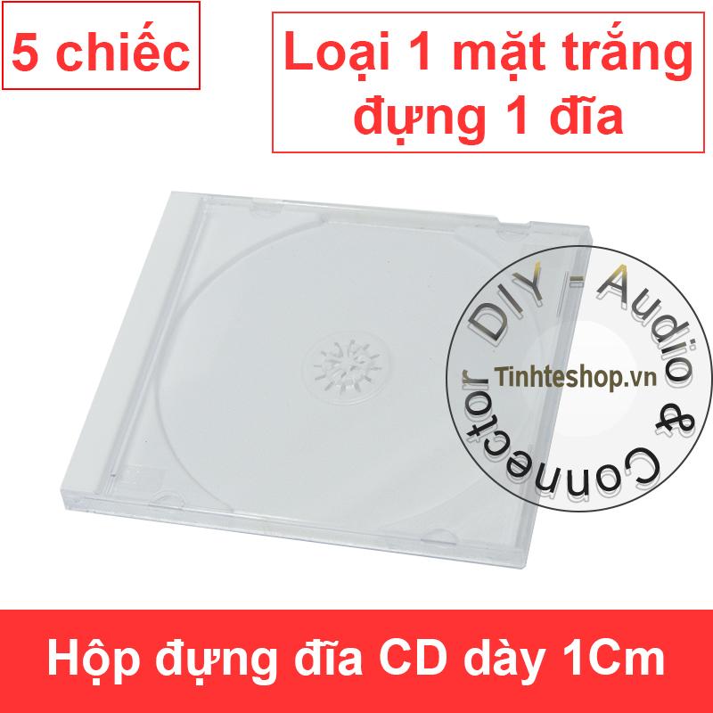 Hộp đựng đĩa CD DVD dày 1.2Cm - Vỏ đựng đĩa CD DVD dày bản trắng (5 chiếc)