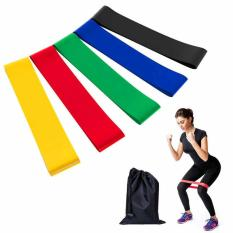 Bộ 5 dây đàn hồi kháng lực Miniband (có túi đựng đi kèm) dành cho tập mông đùi, tập Yoga, Gym