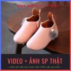 [SALE 50%] Giày bốt bé gái tai thỏ dễ thương chất liệu da PU cao cấp cho bé 1-7 tuổi