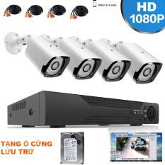 Bộ Camera Giám Sát AHD 4 Kênh 2.0MP 1080P – Trọn Bộ Camera Đầy Đủ Phụ Kiện