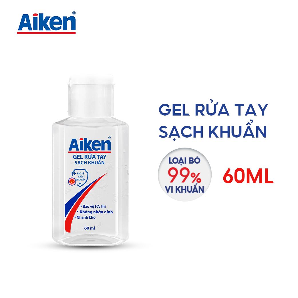 Aiken Gel rửa tay Sạch khuẩn 60ml