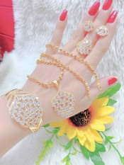 [Siêu khuyến mãi] Bộ trang sức mạ vàng 18K cao cấp JK Silver, cam kết không đen ,không bay màu, không gây dị ứng, thích hợp đi tiệc, làm quà tặng, dây chuyền nữ ,bông tai nữ,nhẫn nữ,lắc tay nữU.bo20v