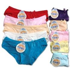 Combo 10 quần lót nữ cotton đủ màu, thấm hút mồ hôi, co dãn thoải mái, 35 – 65kg