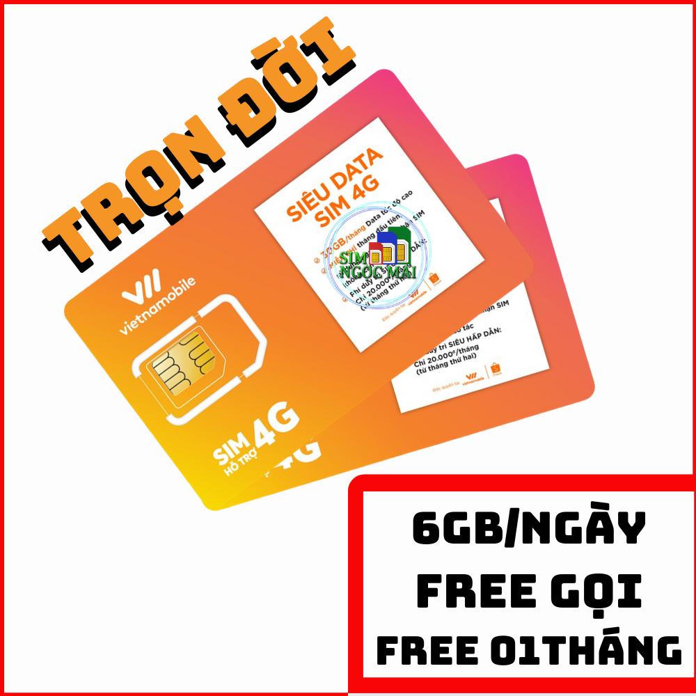 Siêu Thánh Sim 4G Vietnamobile – Trọn Đời 01 THÁNG – Miễn Phí Tháng Đầu 180Gb