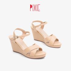 Giày Sandal Đế Xuồng Nữ 7cm Quai Chéo Pixie P207