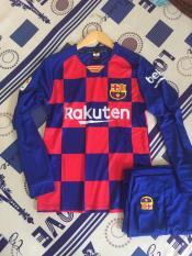 Bộ quần áo bóng đá Barca sân nhà dài tay 2020- có in chữ Beko