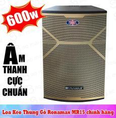 Loa kéo karaoke Ronamax MR15, Loa bluetooth thùng gỗ 4.5 tấc công suất đỉnh 600W