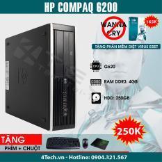 HP Compaq 6200 Intel Pentium G620, Ram 4GB, HDD 250GB – Tặng phím, chuột, bàn di.