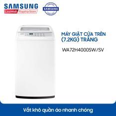 Máy Giặt Cửa Trên SamSung WA72H4000SW/SV 7.2Kg (Trắng) – Hãng phân phối chính thức