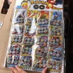 Sét 6 nam châm dẹt hình pokemon