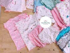 (INBOX LỰA MẪU) COMBO 3 Bộ thun mát cotton bé gái HOTGA chất đẹp (3-12kg)