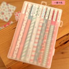Hộp 10 cây bút đủ màu siêu xinh tiện dụng & TALACA 2436