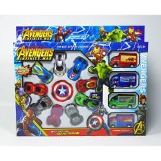 [ GIẢM SỐC ] đồ chơi ô tô, đồ chơi cho bé trai, Ôto Hoạt Hình, Ôtô Siêu Nhân, Combo 13 chiếc xe hoạt hình Avengers cho bé, Chất liệu cao cấp, an toàn, bền đẹp . Thế giới xe đồ chơi ô tô cao cấp cho bé