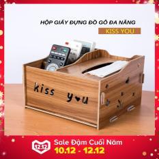 Hộp giấy đựng đồ gỗ KISS YOU