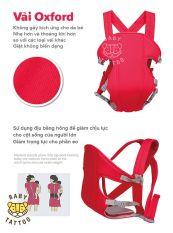 Địu 6 tư thế có đỡ cổ đai đeo an toàn cho bé, địu em bé chống gù đai địu em bé 4 tư thế địu em bé 4 tư thế baby carrier, chất liệu thoáng mát, thoát hơi