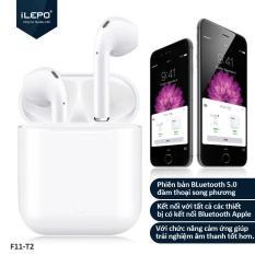 Tai Nghe Iphone Bluetooth F11-T2, Kết Nối Không Dây v5.0, Tần Số Phản Hồi 20 – 20KHz, Âm Thanh Stereo Tuyệt Hảo, Bảo Hành Lên Tới 12 Tháng . F11 – T2