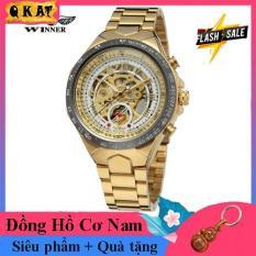 Đồng hồ cơ nam Winner TM03-Đồng hồ nam cơ lộ máy Winner-Phong cách độc lạ- Đồng hồ nam dây thép đúc đặc không gỉ-Mặt chống xước-Đồng hồ chống nước -Đồng hồ nam giá rẻ-Có quà tặng