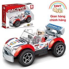 Đồ chơi xếp hình lắp ráp xe đua ô tô với hơn 90 chi tiết phát triển tư duy của bé – KAVY 31006C