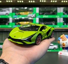 Mô hình xe trưng bày Lamborghini Sisan FKP tỉ lệ 1:32 hãng XHD màu xanh