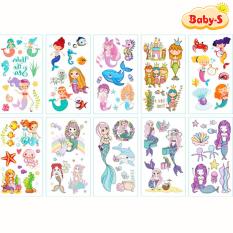 Sticker hình xăm dán chống nước cho bé trai và bé gái nhiều họa tiết ngộ nghĩnh đáng yêu cho bé thỏa sức sáng tạo Baby-S – SST006