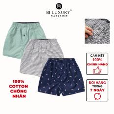 BILUXURY – Combo quần ngủ nam boxer cotton thoáng mát thun co giãn màu bất kỳ