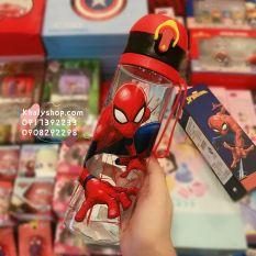 Bình nước thon dài hình người nhện Spiderman, Avengers (Captain) siêu hot dành cho trẻ em, bé trai – 570ml