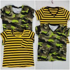 Áo thun nam nữ sọc vàng hoặc rằn ri 45-80kg (1 áo)