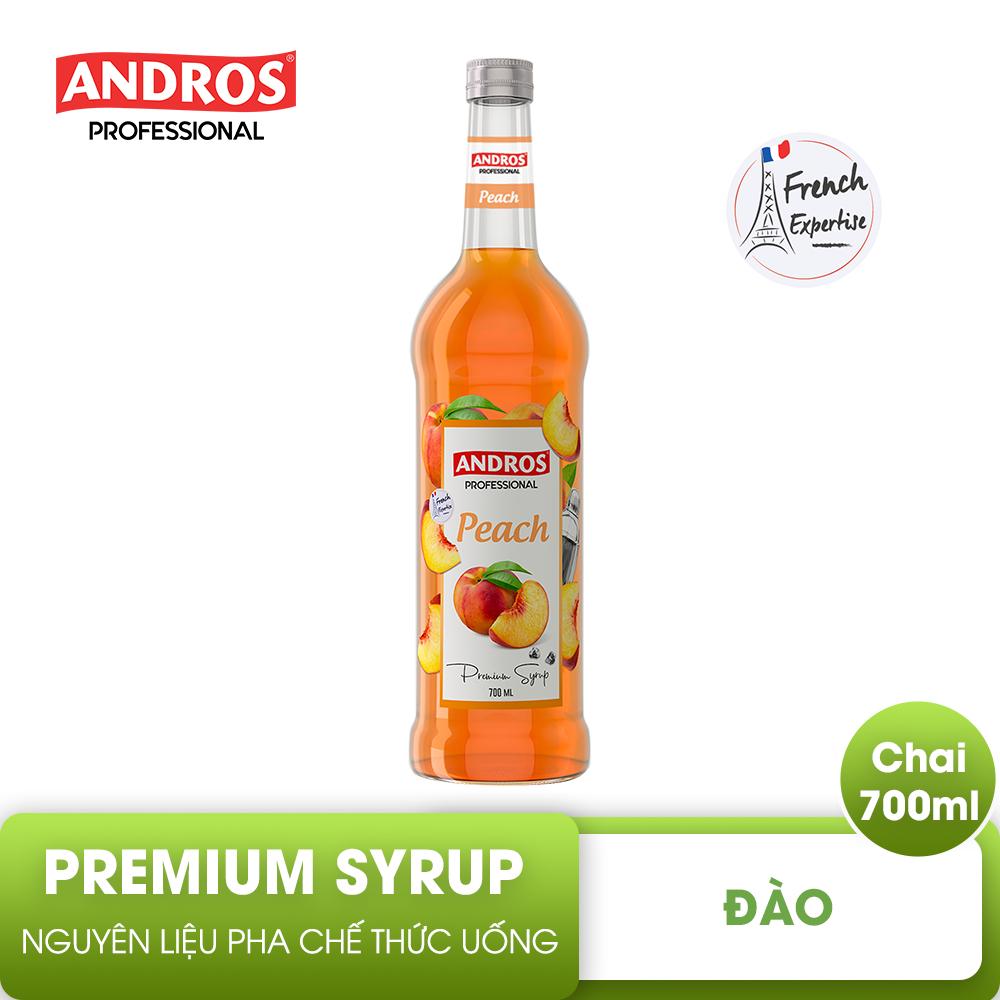ANDROS – SYRUP Đào – Nguyên liệu pha chế – 700 ml