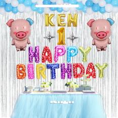 [Tặng 50 bóng bay mini] Set 13 chữ HAPPY BIRTHDAY trang trí sinh nhật