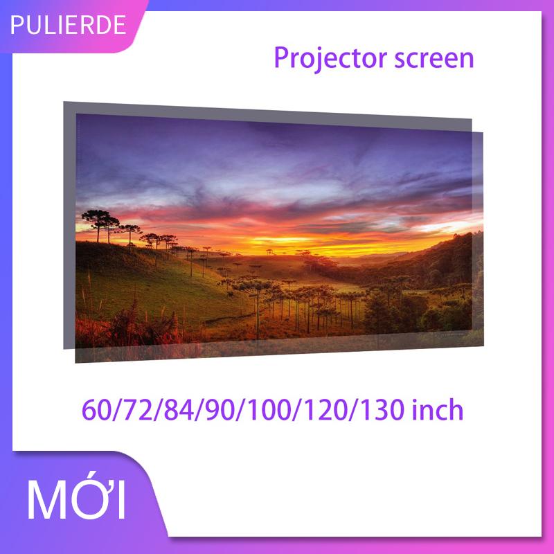 [Nhập LZDEL51 giảm 10% tối đa 200k cho đơn 99k] Màn hình máy chiếu 16: 9 Rèm đơn giản Màn hình chống sáng 60 72 84 100 120 inch nhà ngoài trời văn phòng di động 3D HD