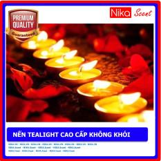 Nikascent Combo 10 viên nến tealight cao cấp không khói, không mùi dùng cho đèn đốt tinh dầu