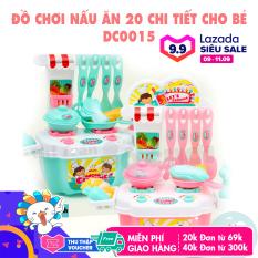 Đồ chơi nấu ăn 20 món bằng nhựa màu xanh, màu hồng cho bé trai, bé gái – DC0015 – Thị trấn đồ chơi