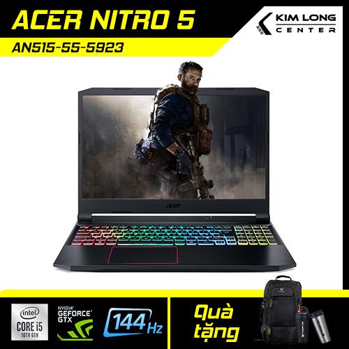 [SALE 1 TRIỆU] Laptop Gaming ACER NITRO 5 AN515-55-5923 (NH.Q7NSV.004) : I5-10300H | 8GB RAM | 512GB SSD | GTX 1650TI 4GB + UHD Graphics 630 | 15.6 FHD IPS 144Hz | WIN 10