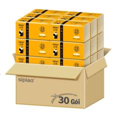 Thùng 30 gói giấy ăn than tre gấu trúc bịch 300 tờ, không lớp tẩy trắng, thiết kế 3 lớp thấm hút, siêu dai không rách