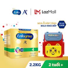 Hộp sữa bột Enfagrow A+ 4 2.2kg (4 túi thiếc 550g) + Tặng 1 đồ chơi Balo nhà bếp