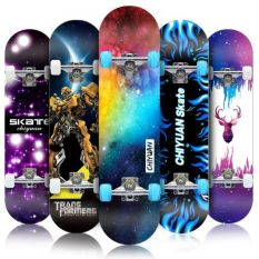 Ván Trượt Skateboard, Ván Trượt Thể Thao Mặt Nhám Đạt Chuẩn Thi Đấu, Ván Trượt Gỗ Phong Ép 8 Lớp Mặt Nhám Chịu Lực Tốt, Khung Trục Bánh Xe Bằng Hợp Kim Cứng Siêu Bền