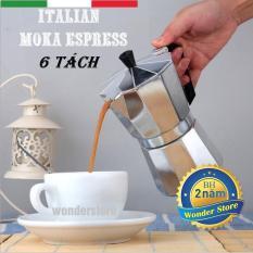 Bình pha cà phê Moka Top Stove phong cách Ý 6 tách (300ml)