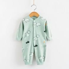 Body dài tay liền thân bodysuit dài tay cotton cho bé trai và bé gái sơ sinh từ 3-16kg hàng đẹp xuất Hàn-BD29