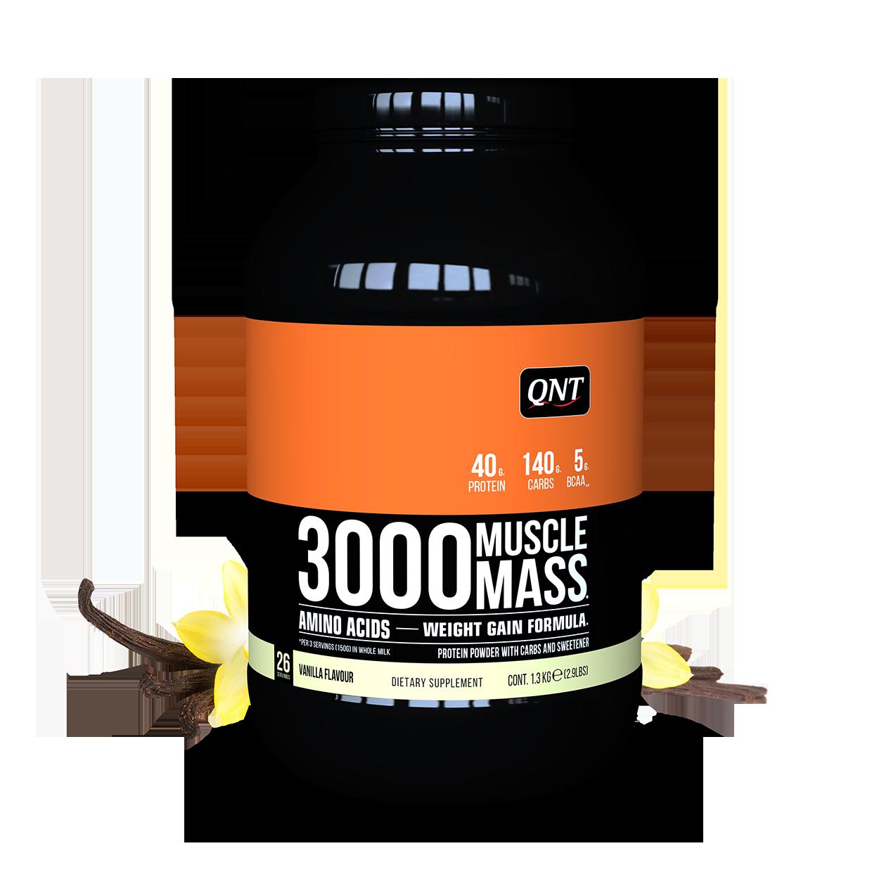 QNT 3000 Muscle Mass Gainer vị Vani 1,3Kg