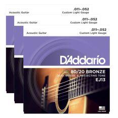 DÂY GUITAR D'ADDARIO 80/20 ACOUSTIC 11-52 EJ13 – Việt Thương Music