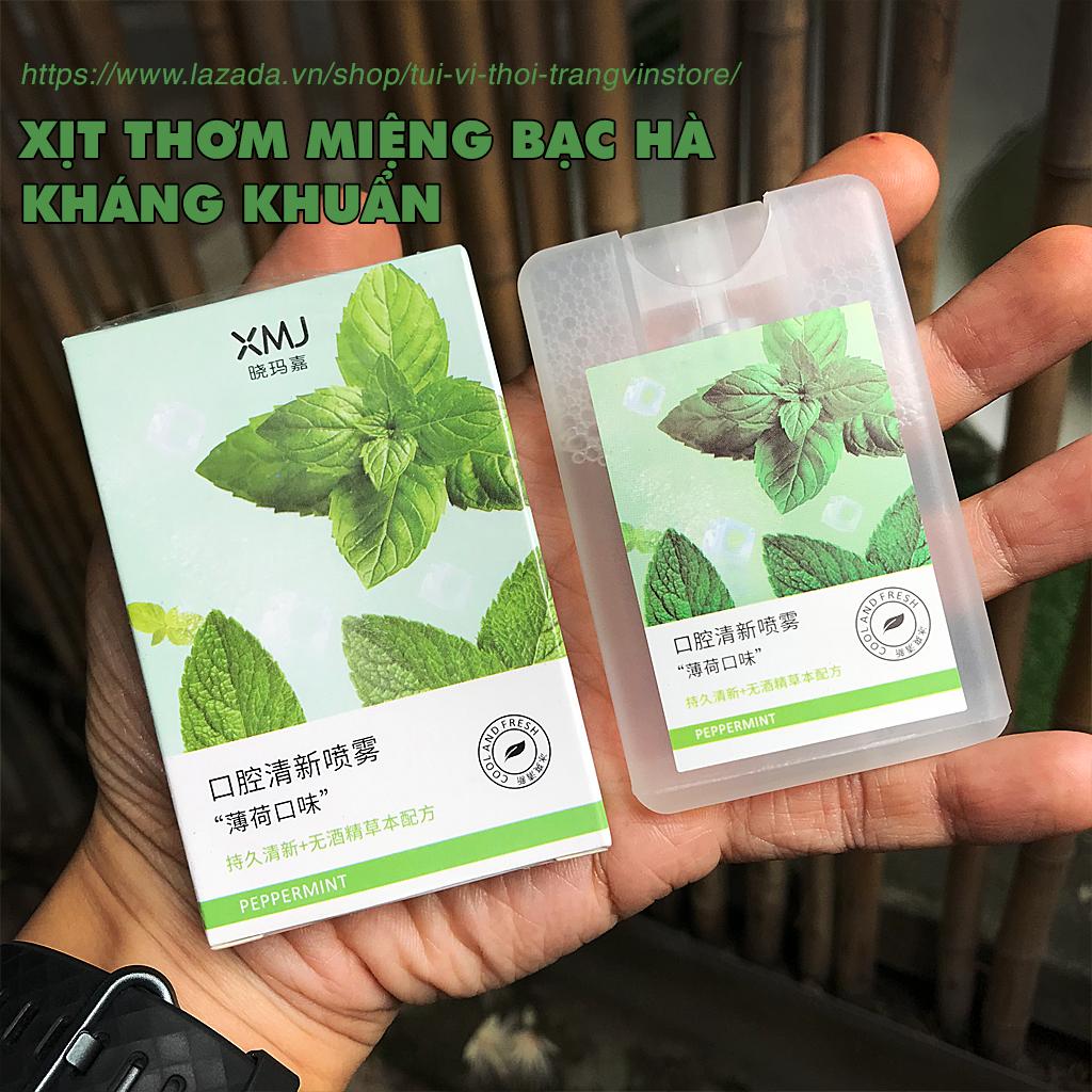 Xịt thơm miệng bạc hà,sản xuất bởi công nghệ sinh học quốc tế Bomei, kháng khuẩn vệ sinh răng miệng, không chứa cồn