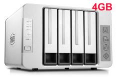 NAS TerraMaster F4-421, Intel Quad-core CPU 1.5GHz, 4GB RAM, 4 HDD bays