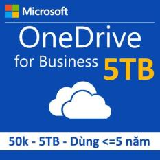 OneDrive for Business dung lượng 5TB