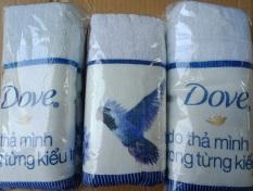 Combo 2 khăn tắm Hàng khuyến mãi Dove 1m x 0.5m cotton 100%