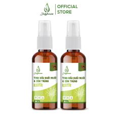 Combo 2 bình xịt phòng tinh dầu Sả Chanh đuổi muỗi khử mùi hiệu quả 50ml/chai JULYHOUSE