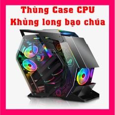 [Có Video] Thùng case CPU SmartPro X1 Khủng long bạo chúa Phong cách Cougar Conquer ATX Main Kiểu dáng độc đáo cho các Game thủ