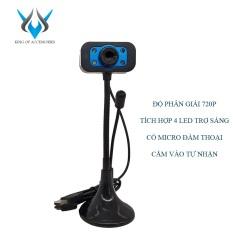 Webcam VSP VCAM độ phân giải 720p có micro phone – tích hợp 4 đèn led trợ sáng (nhiều màu) – Phụ Kiện 1986