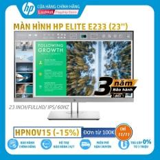 [HPNOV15 Giảm 15% tối đa 1 triệu 500 nghìn] [Trả góp 0%] Màn hình HP EliteDisplay E233 (23 Inch/FULLHD/60Hz/5Ms/IPS/1FH46AA) – Hàng Chính Hãng