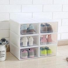 Hộp Đựng Giày Nắp Trong Suốt,Tủ Nhựa Lắp Ghép Thông Minh Đa Năng Tiện Lợi Tiết Kiệm Không Gian
